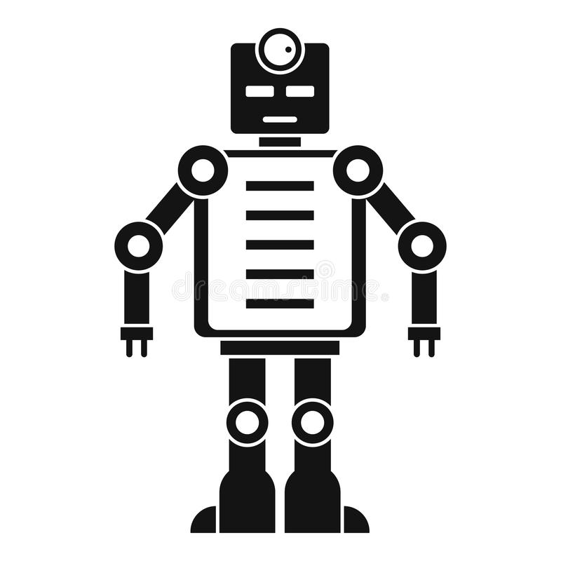 Artificial Intelligence Robot Icon, Simple Style Stock