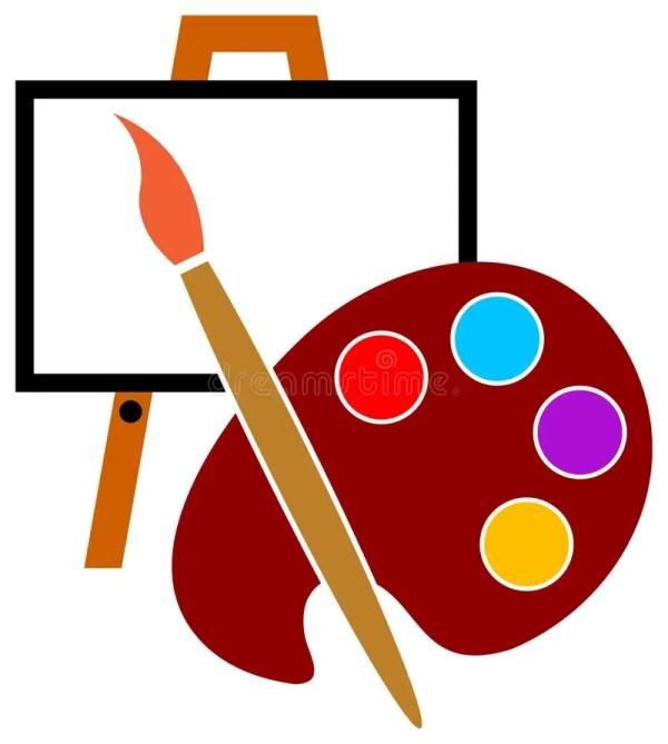Artist Studio Logo Stock Vector. Illustration Of