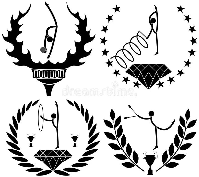 Gymnastics stock vector. Illustration of healthy, star