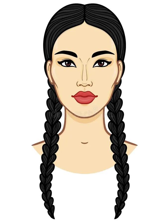 Cartoon Braids : cartoon, braids, Braids, Cartoon, Stock, Illustrations, 1,140, Illustrations,, Vectors, Clipart, Dreamstime