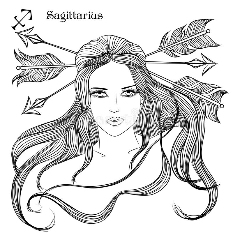 Sagittarius Sign Pages Coloring Pages