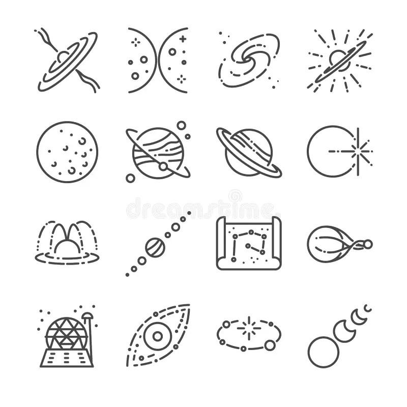 Solar system planet set stock vector. Illustration of