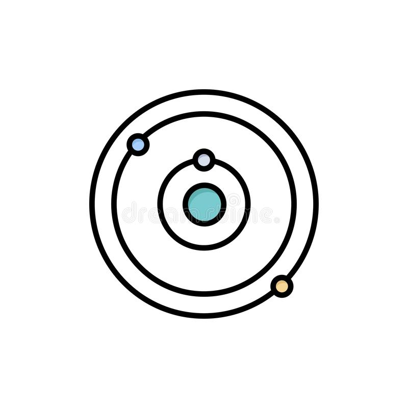 Astronomy, Planet, Education, Learning Flat Color Icon