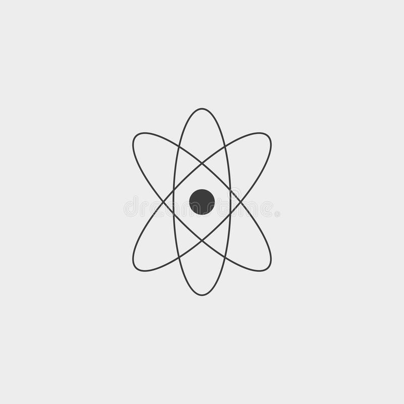 Atom, Science, Chemistry, Physics, Nuclear Flat Color Icon