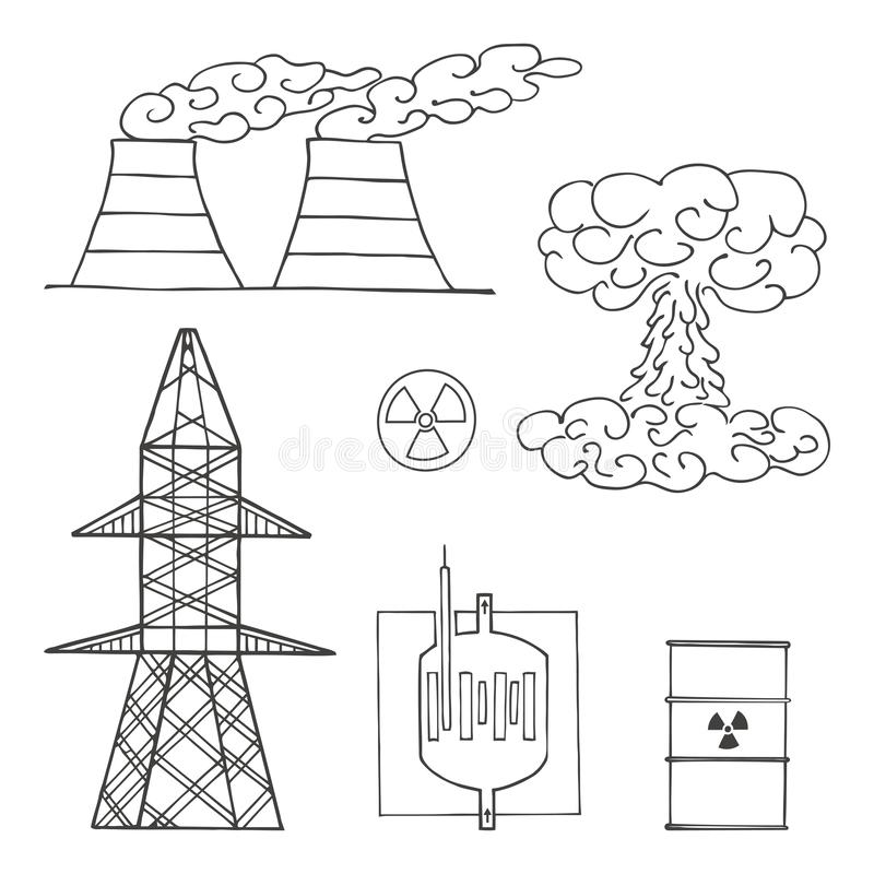 Atomic power stock vector. Illustration of electricity