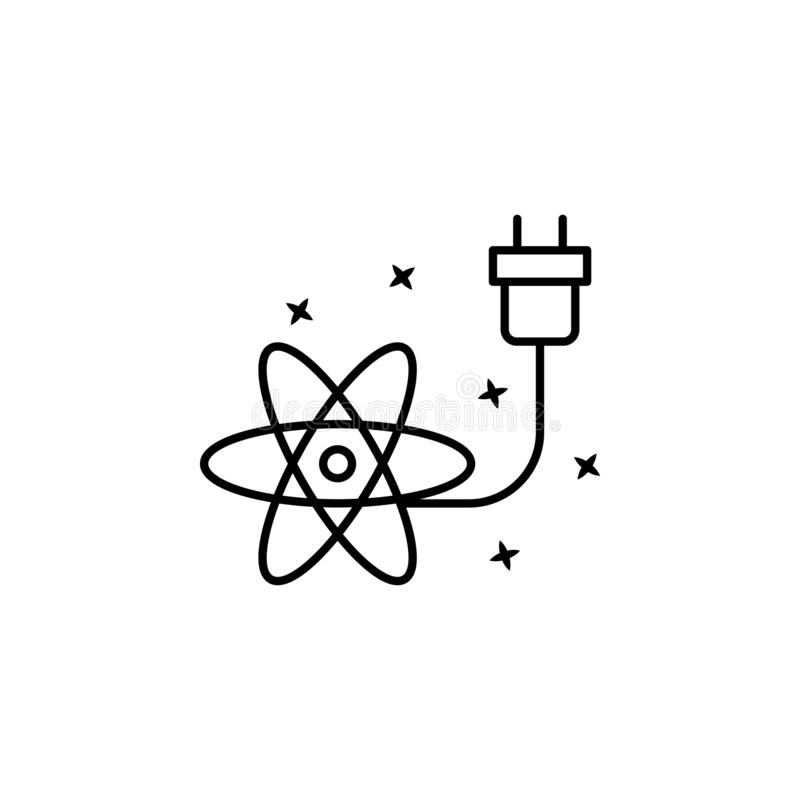 Simple Ion And Electron Line Icon. Symbol And Sign