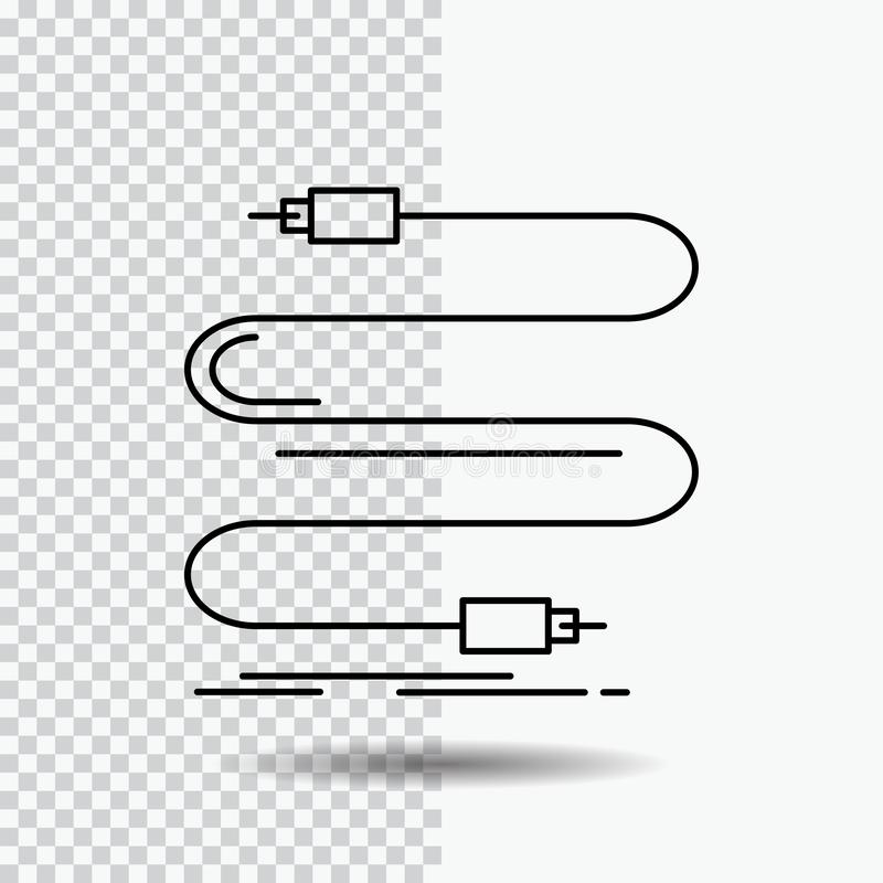 Cable, Wire, Joint, Capacitors Icons. Flat And Line Filled