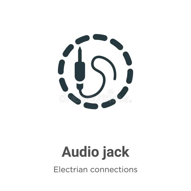 Jack audio icon stock illustration. Illustration of