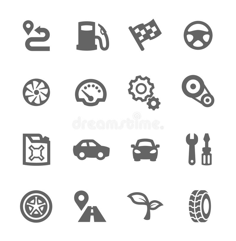 Dashboard icons set. stock vector. Illustration of meter