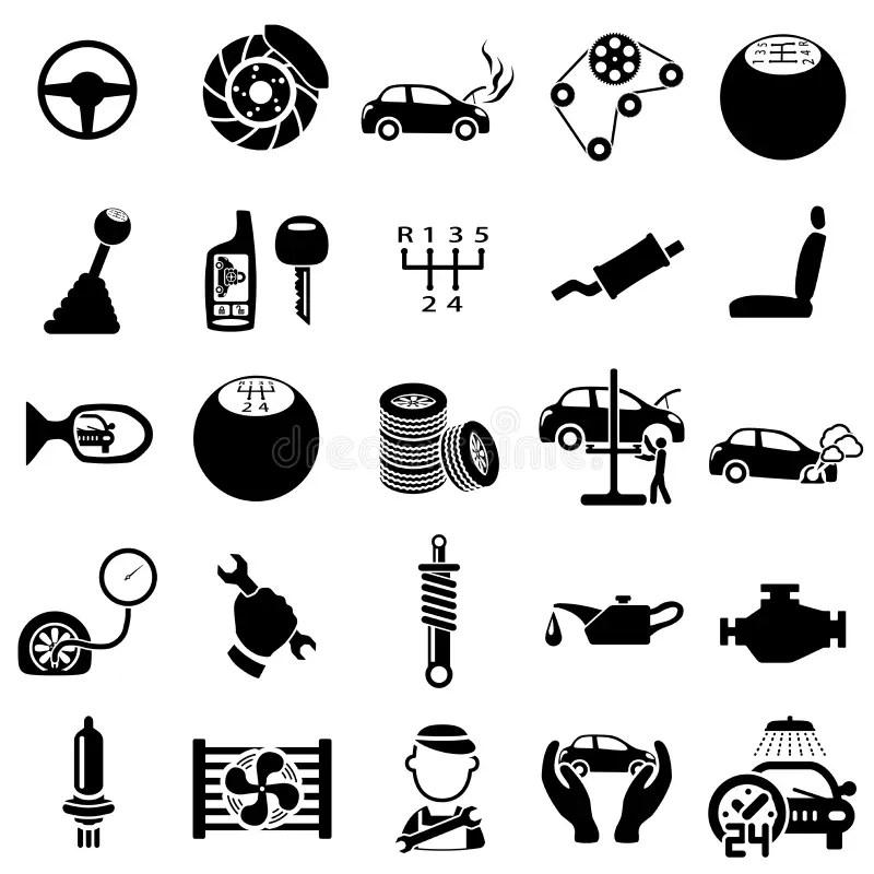 Auto repair Icons stock vector. Illustration of pump