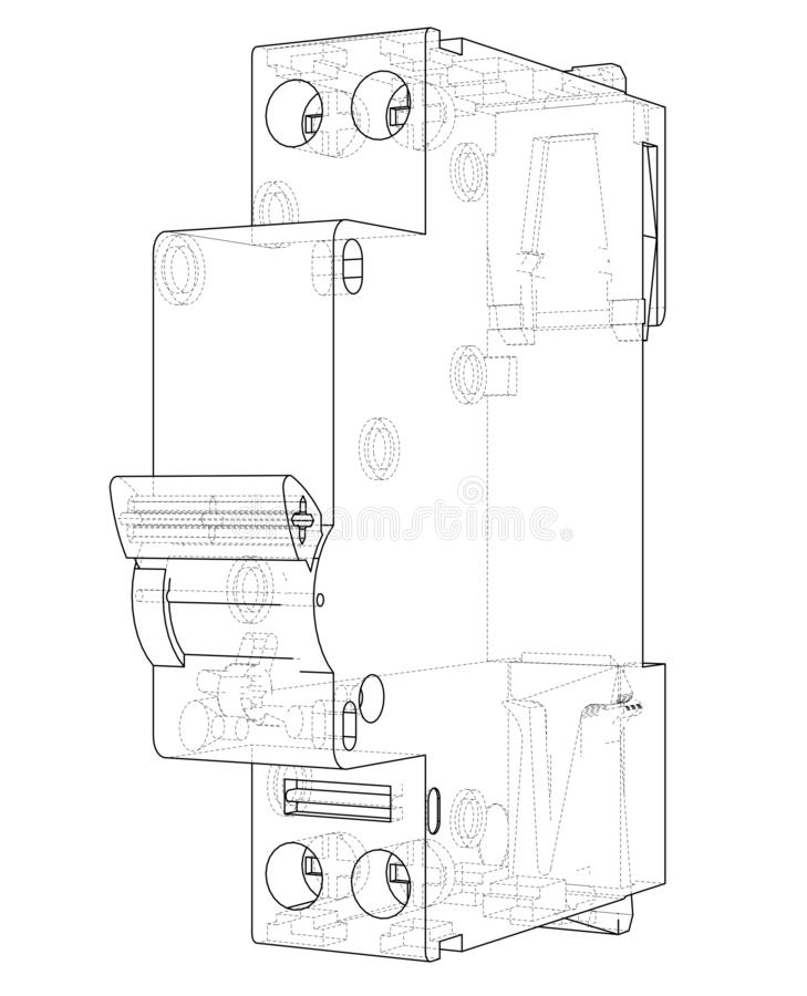 Automatic Circuit Breaker Concept. Vector Stock Vector
