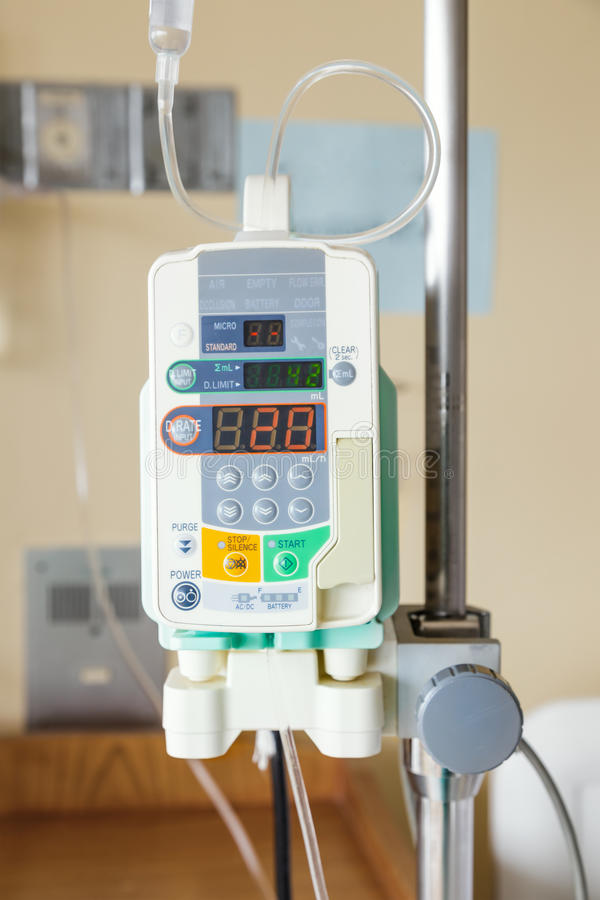 Automatic Infusion Pump Of IV Drop Stock Photo - Image of injection. count: 54333582