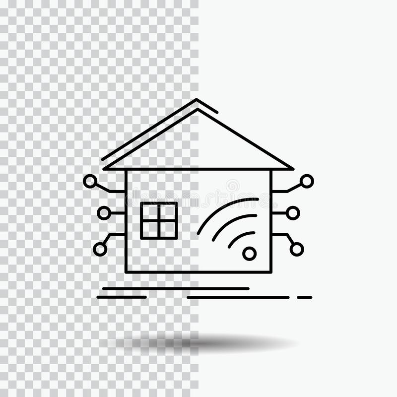 Automation, Home, House, Smart, Network Line Icon. Vector