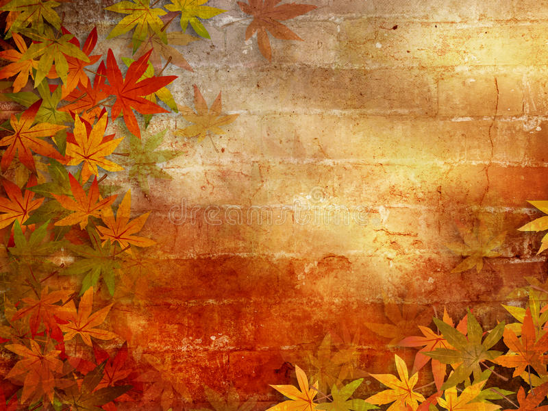 Christian Wallpaper Fall Welcome Autumn Background With Fall Leaves Stock Illustration