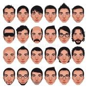 avatar men portraits. stock vector