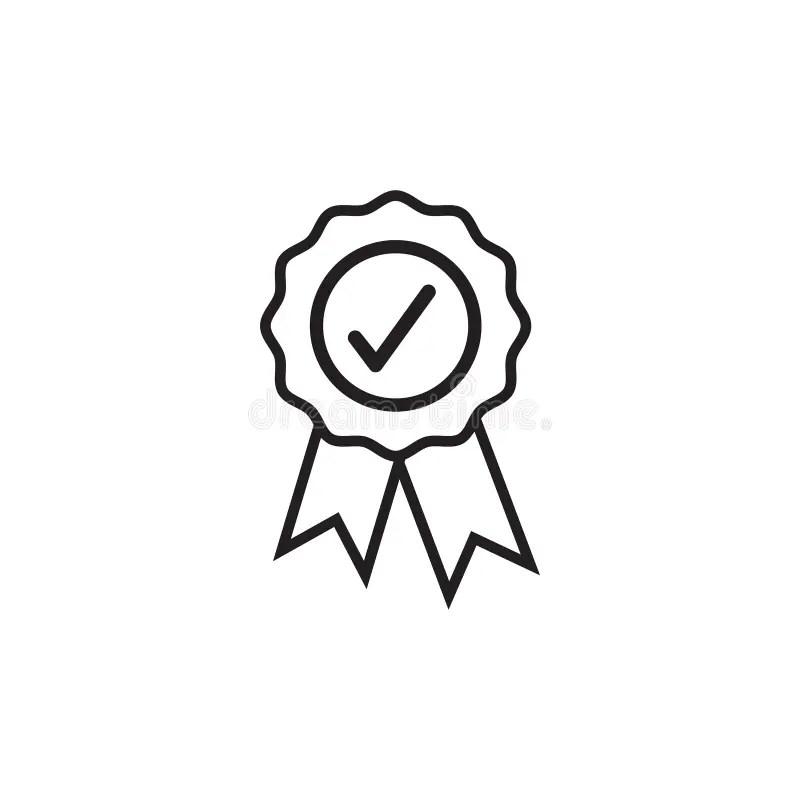 Vector Icon Set For Achievement Certificate Stock