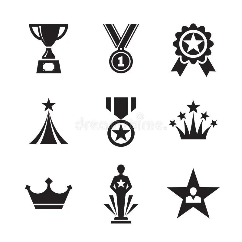 Set award medals stock vector. Illustration of prize