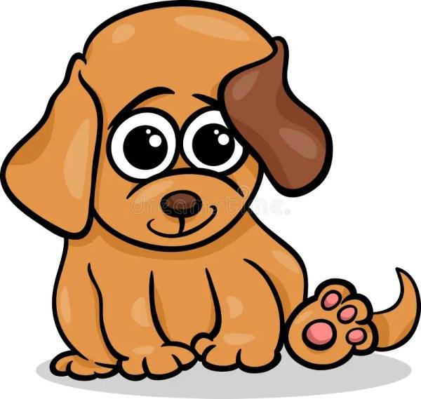 Baby Dog Puppy Cartoon Illustration Stock Vector