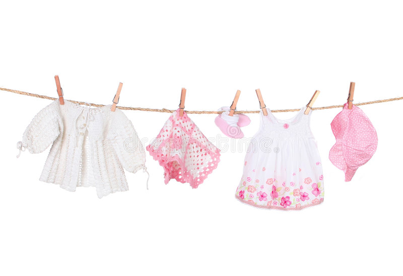 baby born clothes hanging
