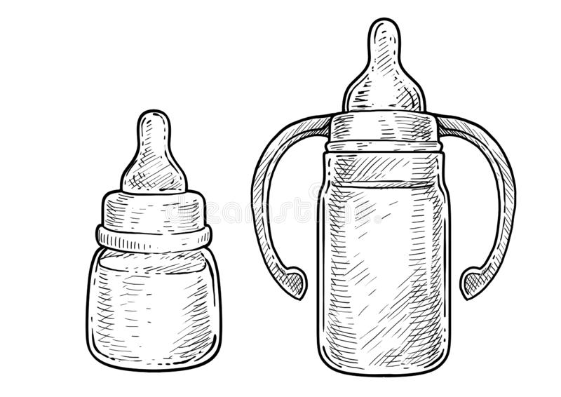 Can Container For Milk Illustration, Drawing, Engraving
