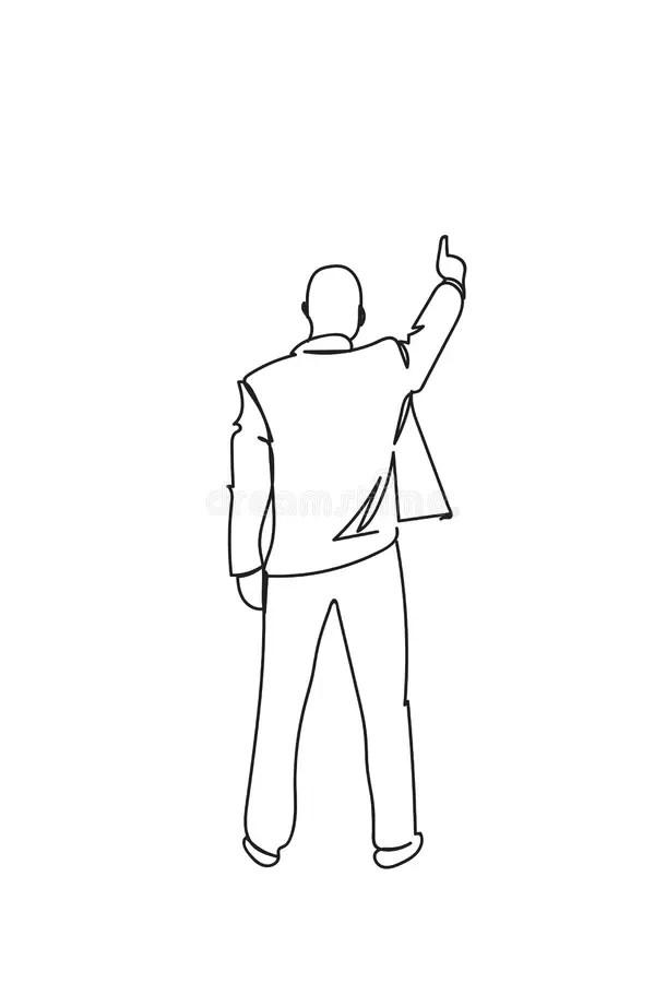Finger Pointing Stock Illustrations