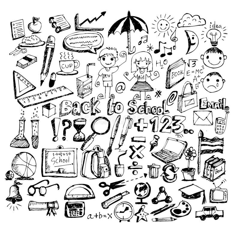 Back To School And Cute Schoolchild Stock Illustration