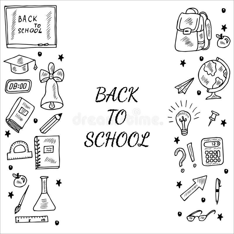 Back To School, Doodle Seamless 2 Stock Vector