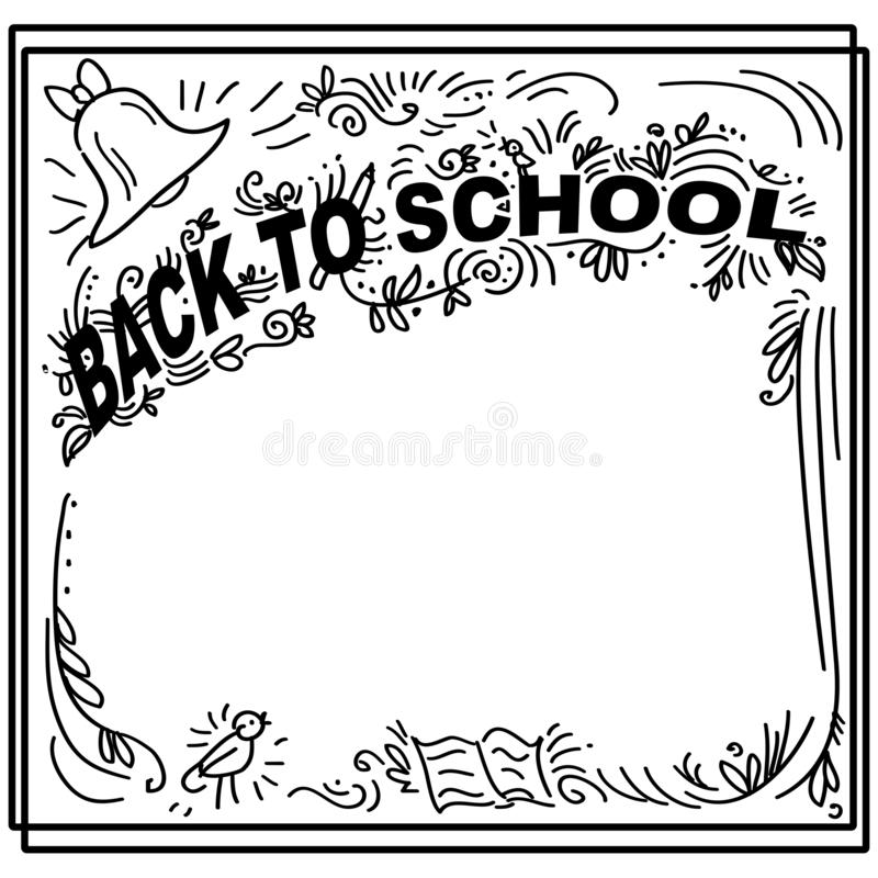 Frame with pupil theme 1 stock vector. Illustration of