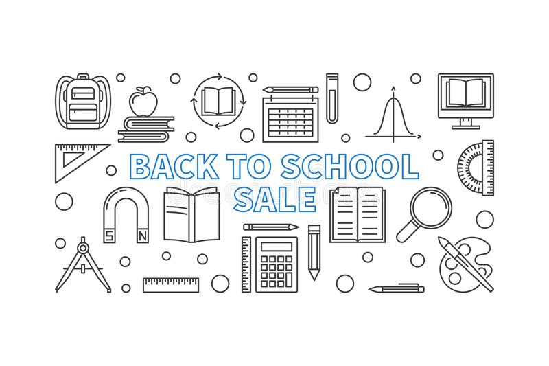 Set Logo With Backpack And Text Welcome Back To School