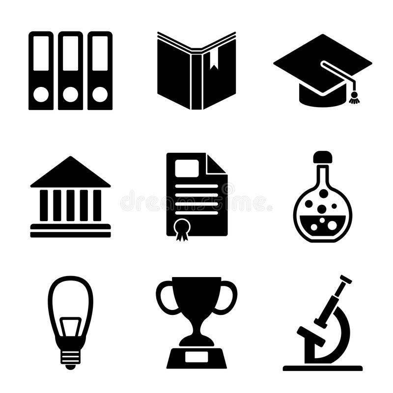 Back To School Web And Mobile Logo Icons Collection Stock