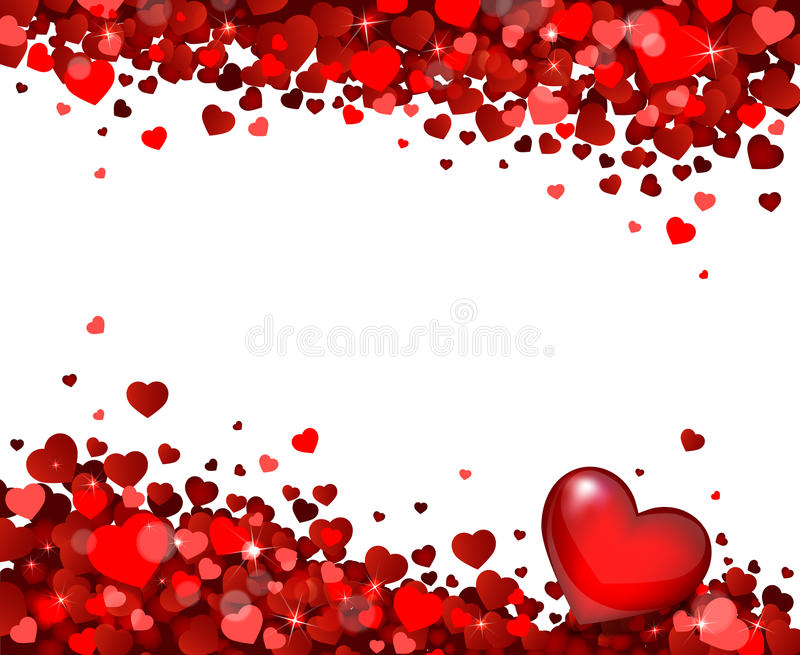 Background Of Hearts Stock Vector. Illustration Of Heart