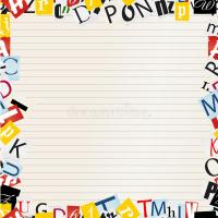 Background Of Letters Frame Royalty Free Stock Photos ...