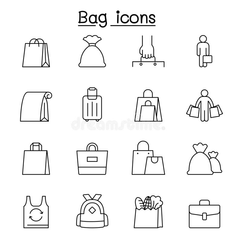 Thin Line Icons Ecommerce Set 2 Stock Vector