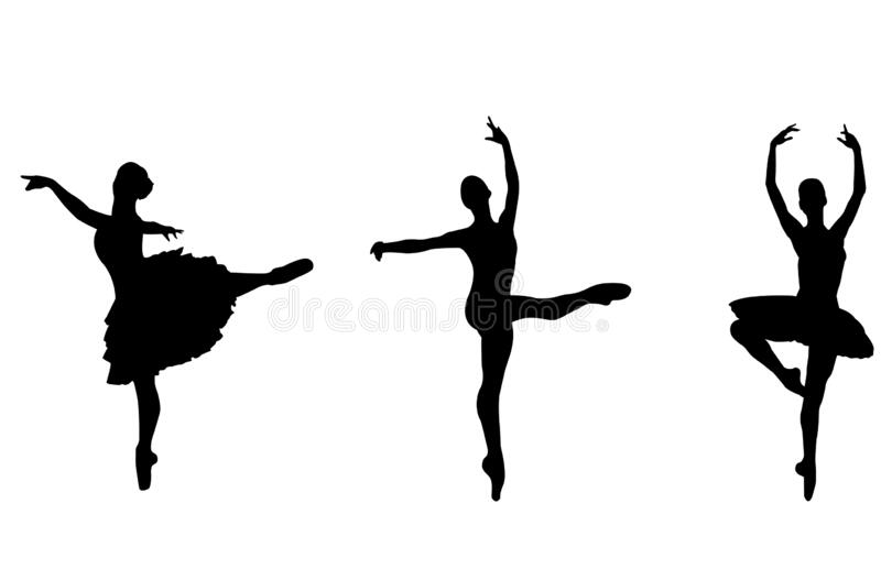 Ballet Silhouettes stock vector. Illustration of costume