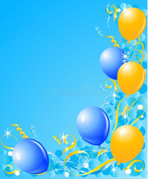 balloons blue background stock