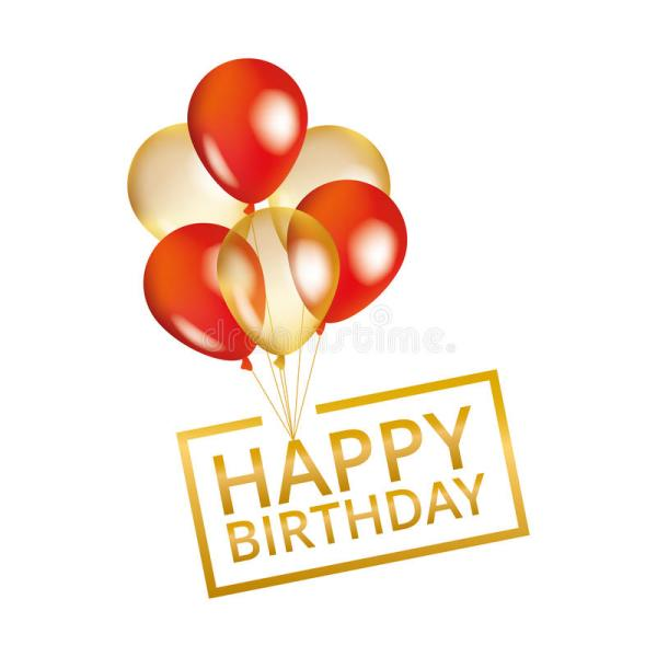 balloons happy birthday stock illustration
