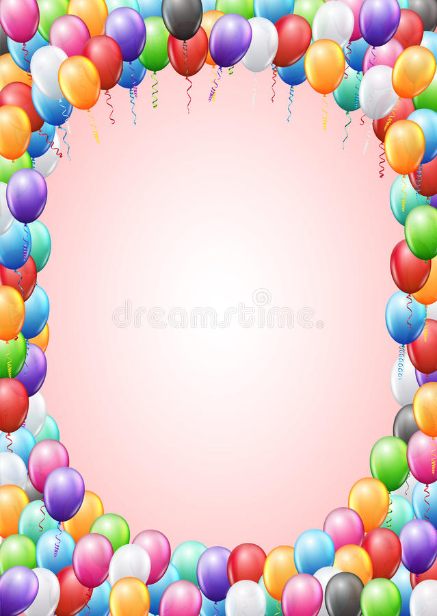 Balloons Header Template Stock Vector Illustration Of