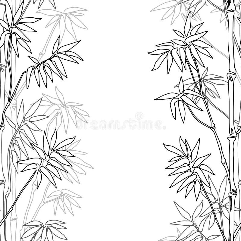 Bamboo Seamless Vertical Border Stock Vector