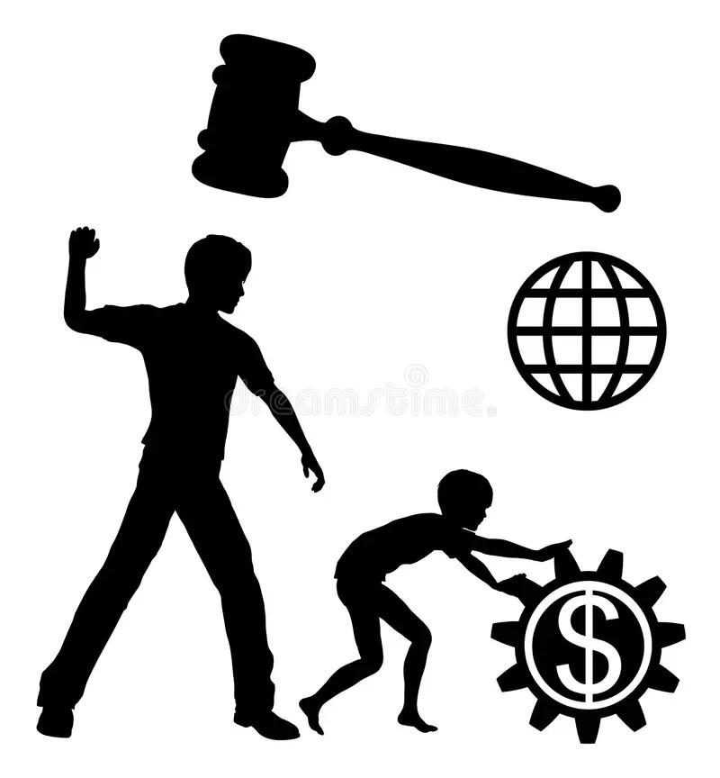 Ban Child Labor stock illustration. Illustration of