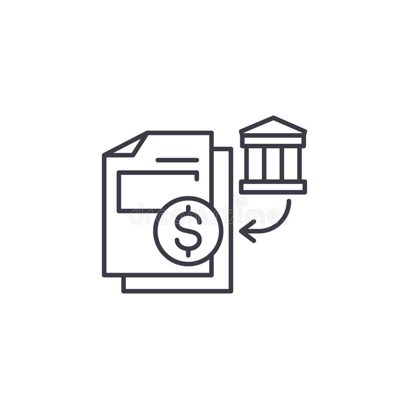 BANK STATEMENT concept stock illustration. Illustration of