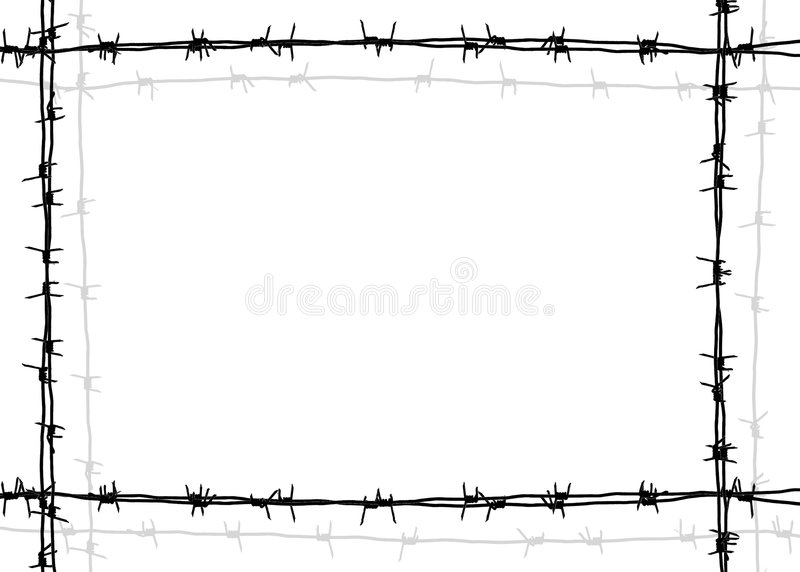 Barbed wire frame stock illustration. Image of barbwire