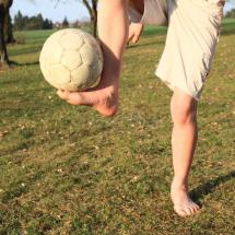 Bare Feet With Ball Stock - 52621845