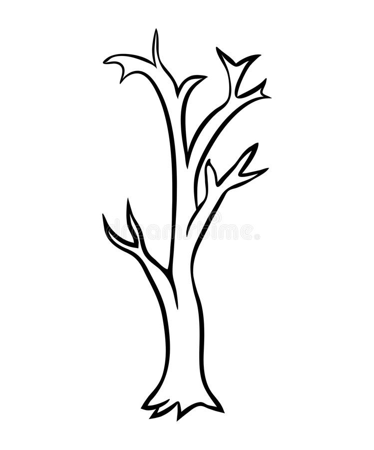 Bare Tree Vector Stock Vector Illustration Of Bare
