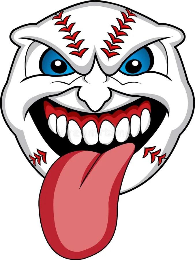 baseball face stock illustrations