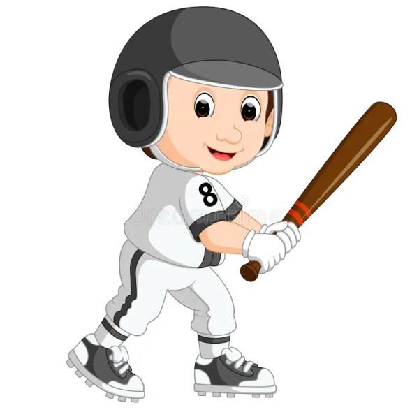 Baseball Player Kid Cartoon Stock Vector - Illustration Of Stadium Healthy 84829068