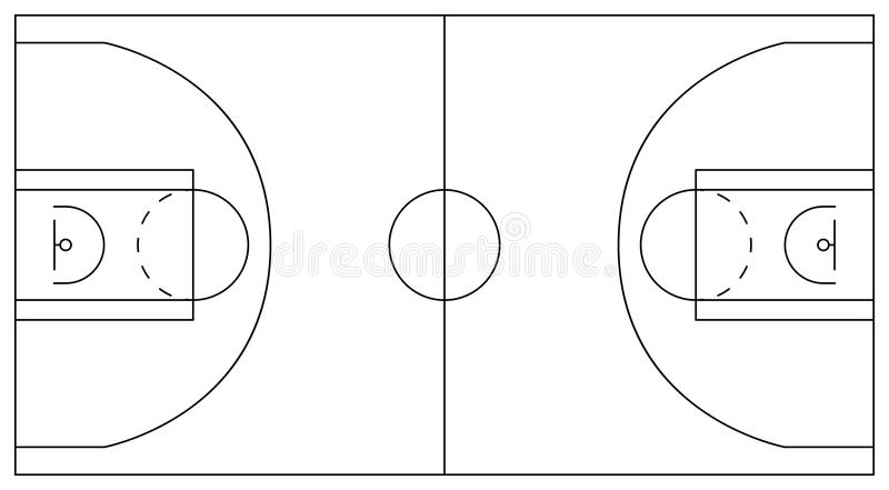 Basketball Court. Scheme Of Plots And Zones: Center Circle