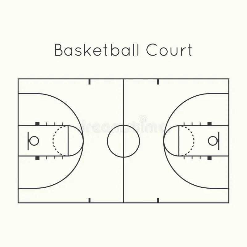 Basketball court stock vector. Illustration of outline