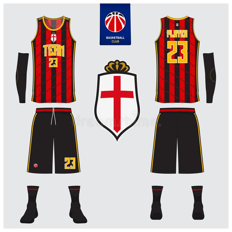 Basketball Jersey Shorts Socks Template For Basketball Club Front And Back View Sport Uniform