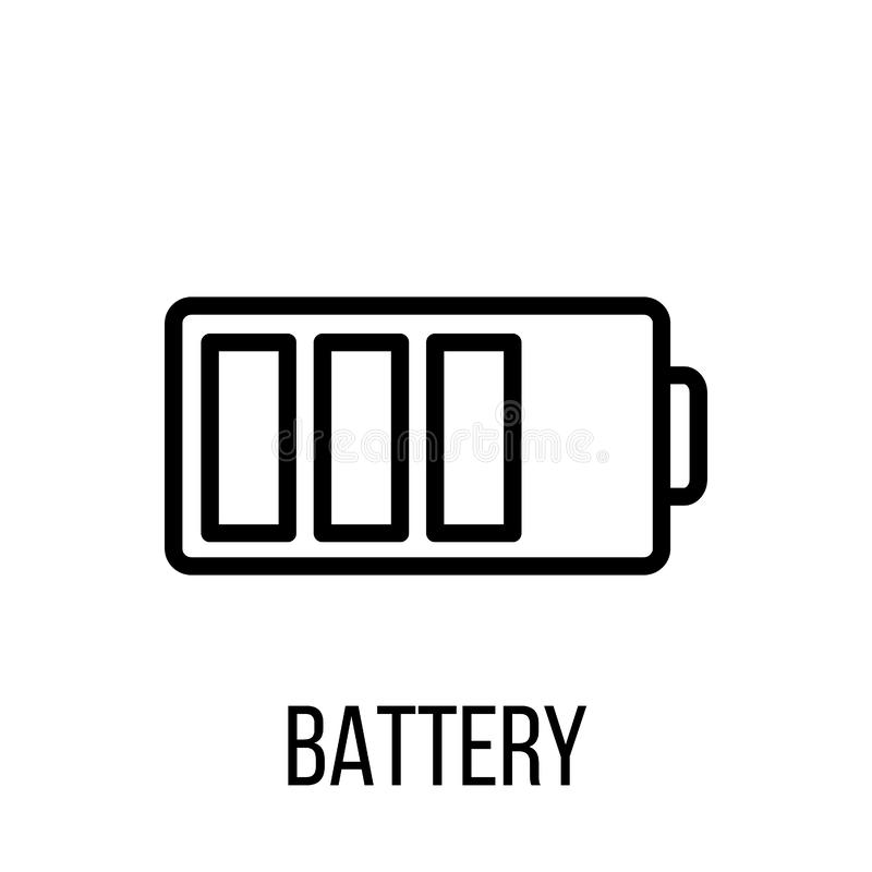 Battery Icon Or Logo In Modern Line Style. High Quality