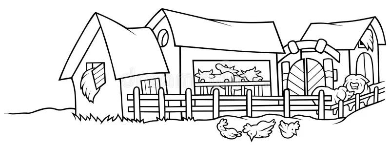 Bauernhof vektor abbildung. Illustration von weiß, vieh